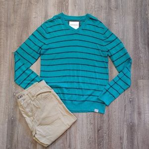 *NWT* Aeropostale Striped V-neck Sweater